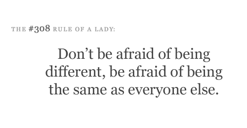 Rule of a lady.... Rule of LIFE.